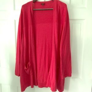 Talbots women . Or girl vibrant pink open sweater